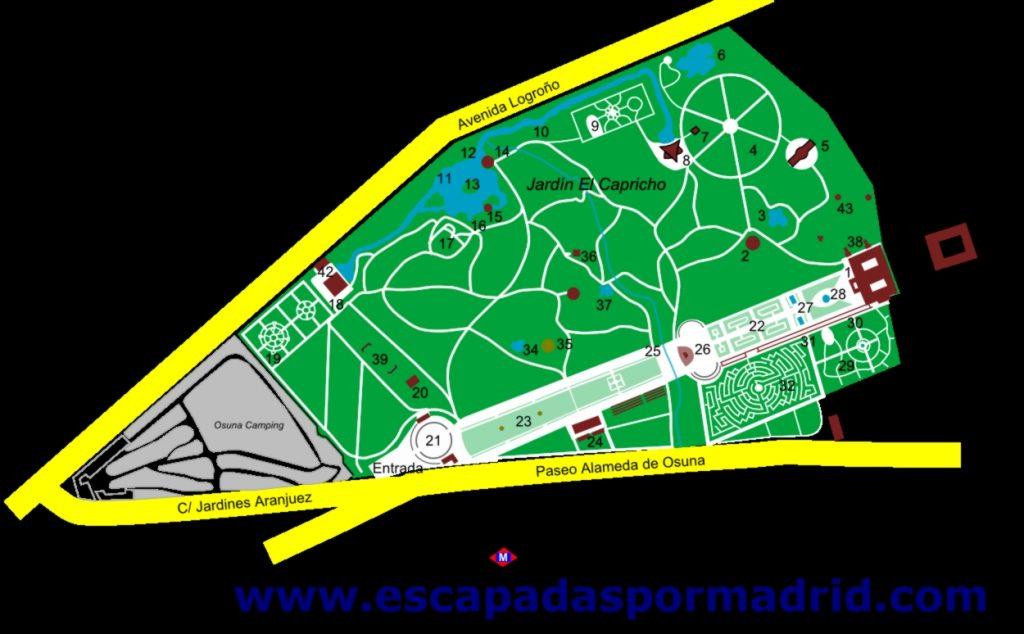 Mapa del Capricho