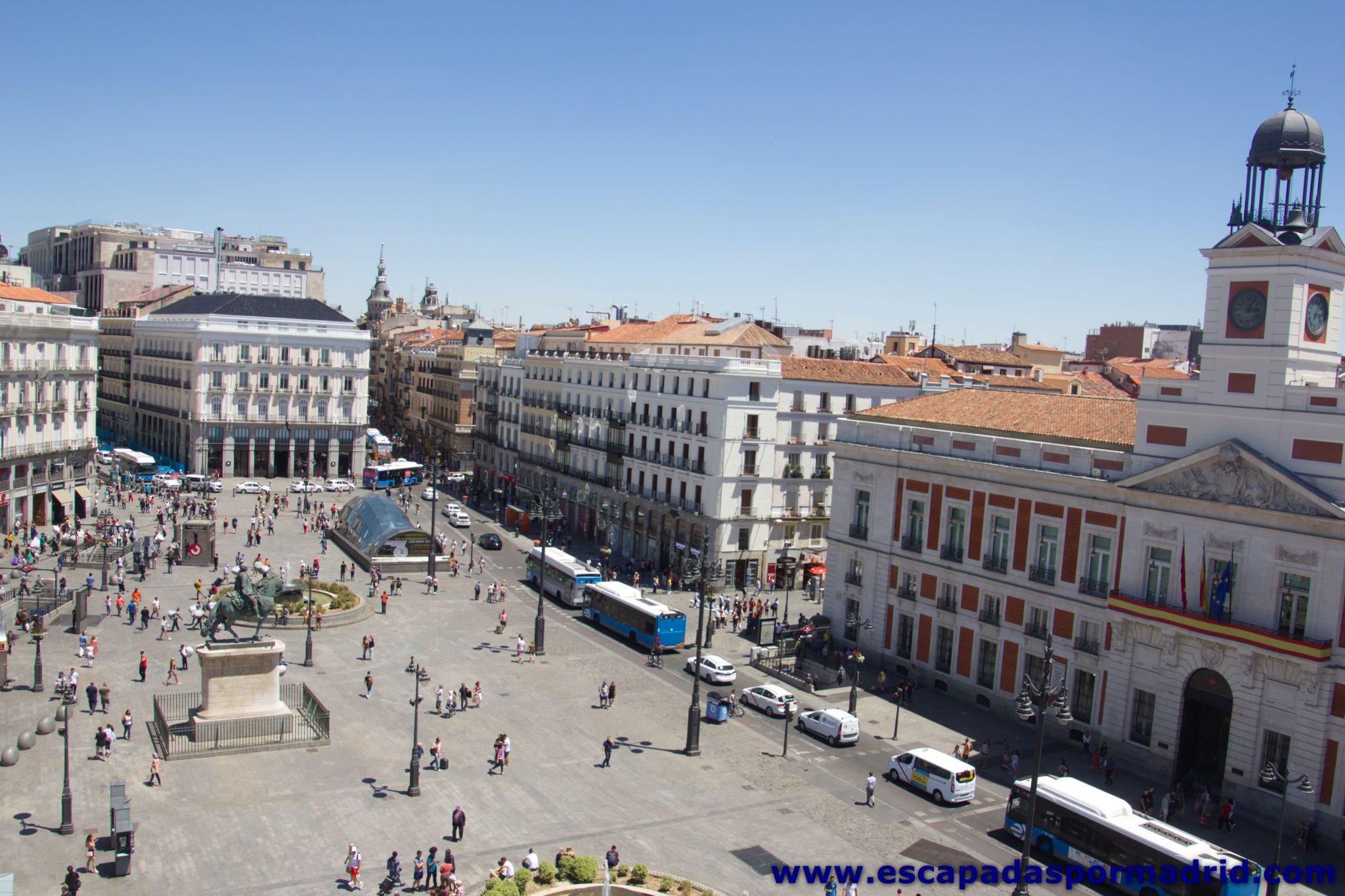 foto de la Puerta del Sol vista desde una azotea