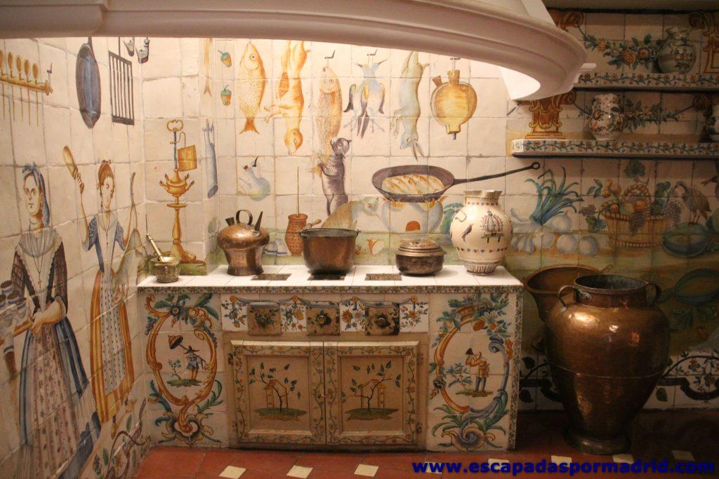 Detalle de los azulejos de la Cocina Valenciana