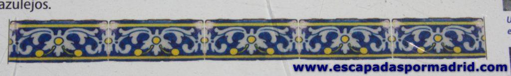 foto de los Azulejos que decoraban las paredes del castillo