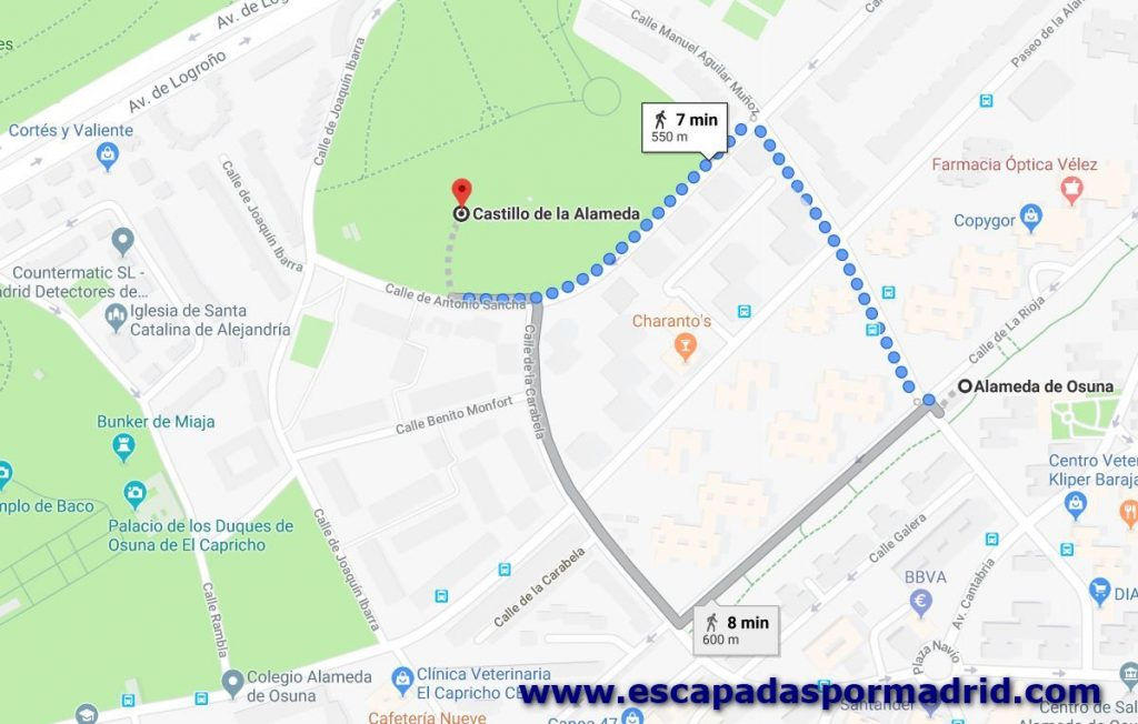 foto de como llegar al Castillo de la Alameda (o Castillo de Barajas)