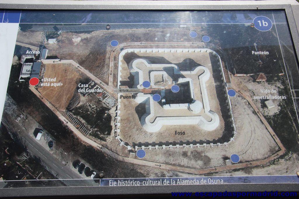 foto del Plano de la visita al Castillo de los Mendoza