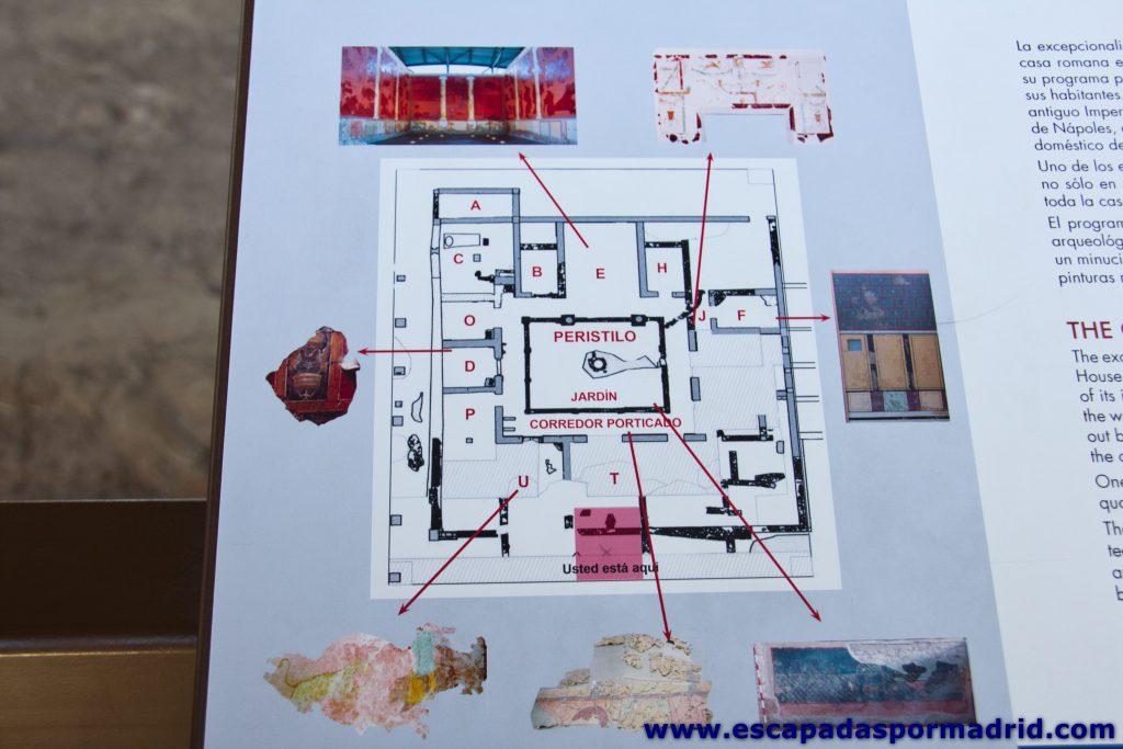 foto del plano de la Casa de los Grifos