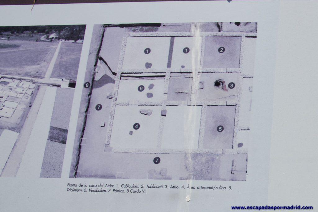foto de plano de la Casa del Atrio