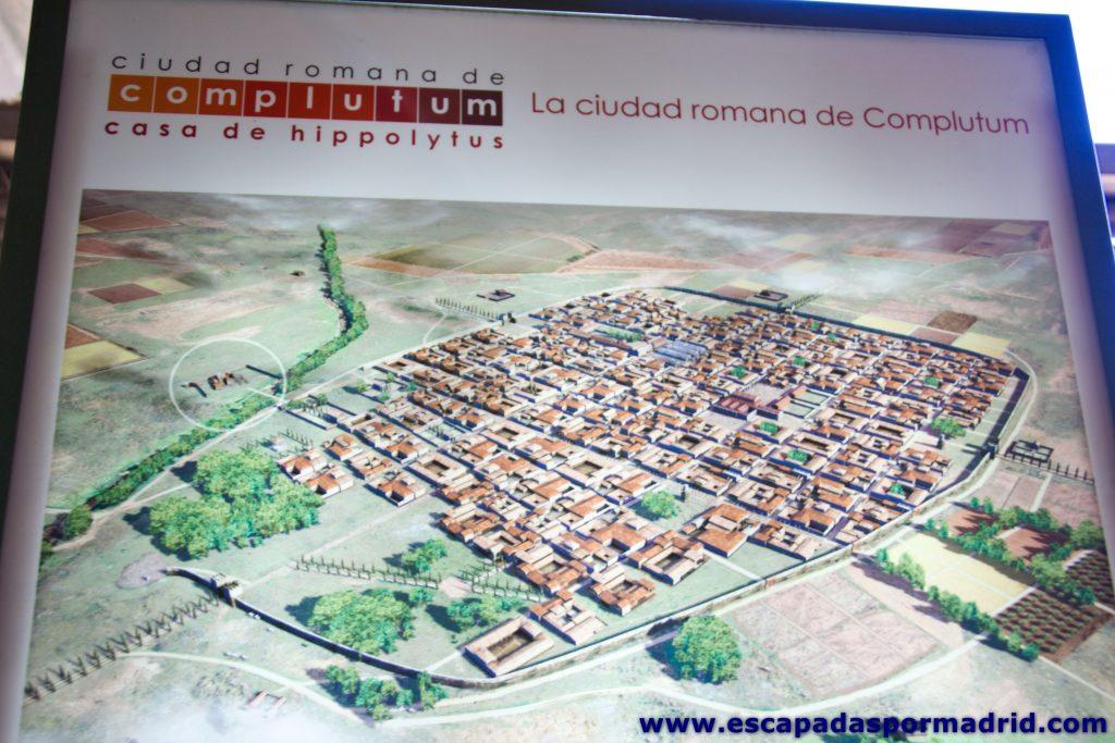 foto de cómo era la ciudad de Complutum
