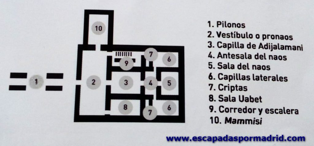 foto del plano del Templo de Debod