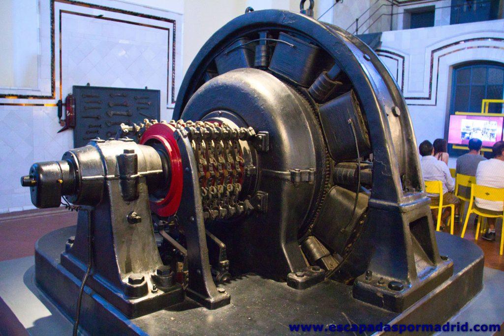 foto de una conmutatriz de la Nave de Motores de Pacífico