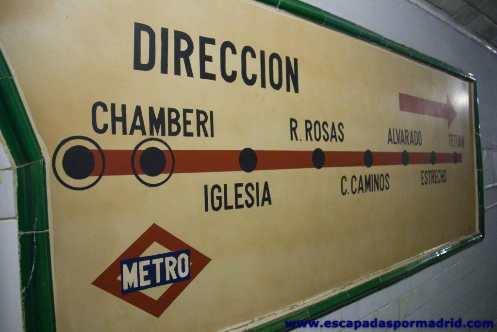 foto del andén visitable del Metro de Chamberí
