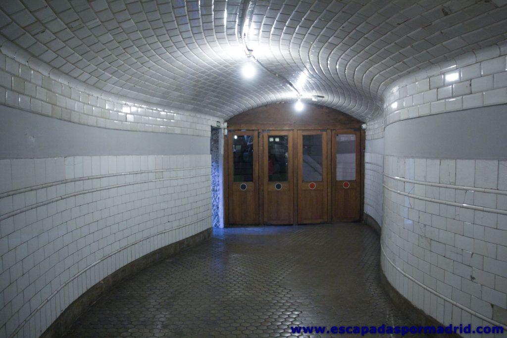 foto de la antigua entrada a la Estación de Chamberí