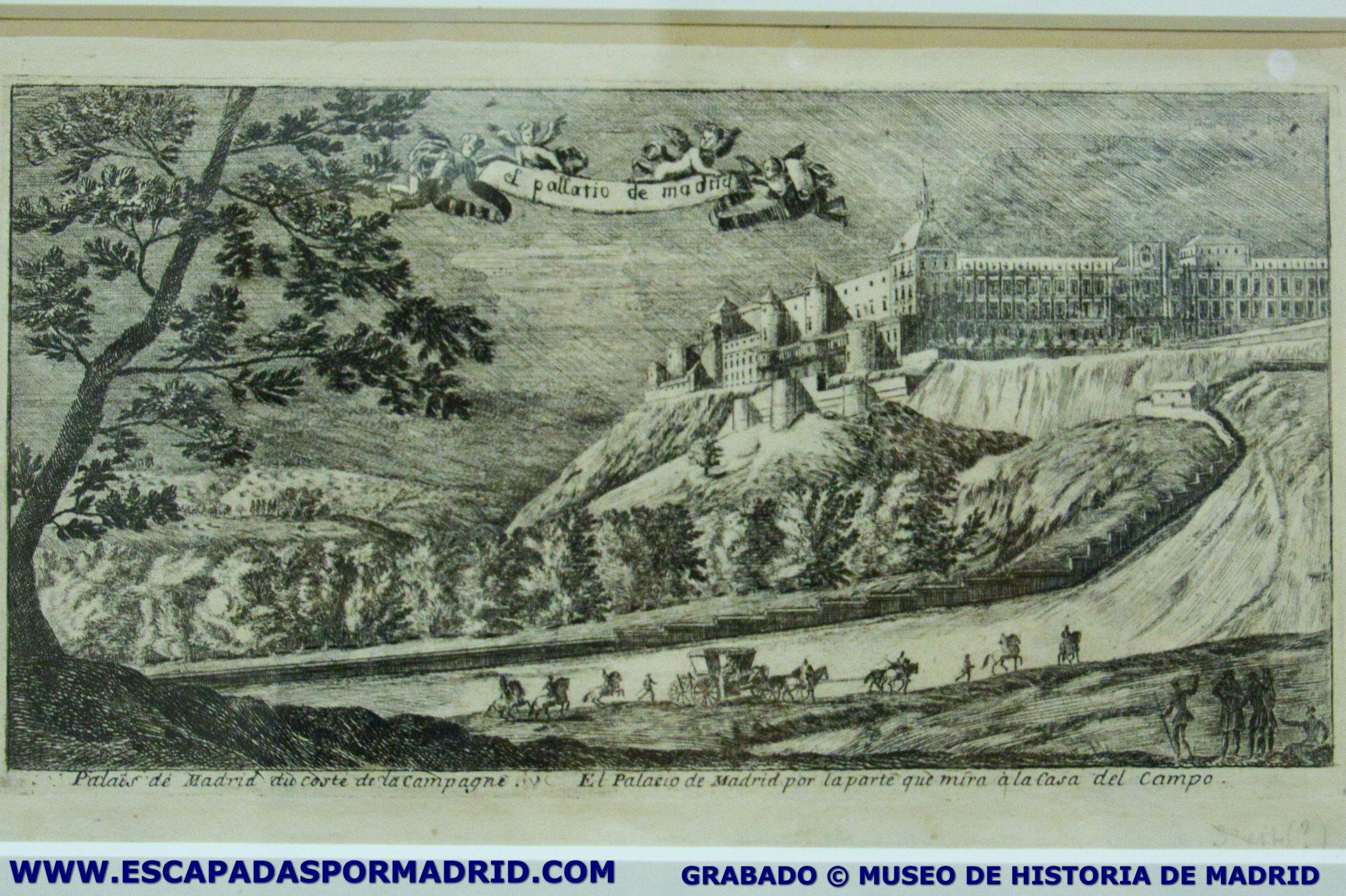 foto del Alcázar desde la Casa de Campo. Museo de Historia de Madrid