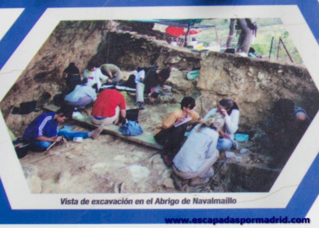foto de excavación del Abrigo de Navalmaíllo