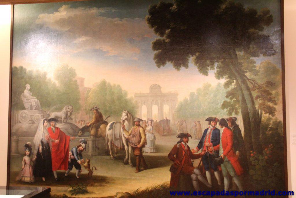 foto de cuadro de la Puerta de Alcalá y la Fuente de Cibeles