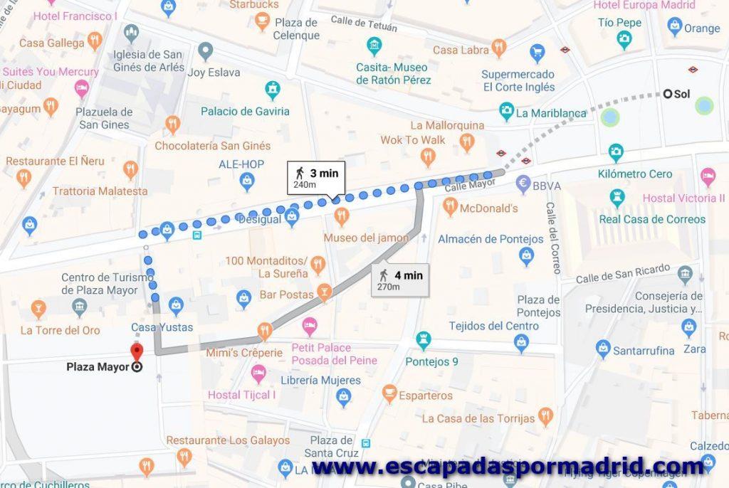 foto de cómo llegar a la Plaza Mayor de Madrid