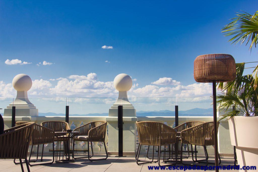 foto de la Terraza del Hotel Riu Plaza de España