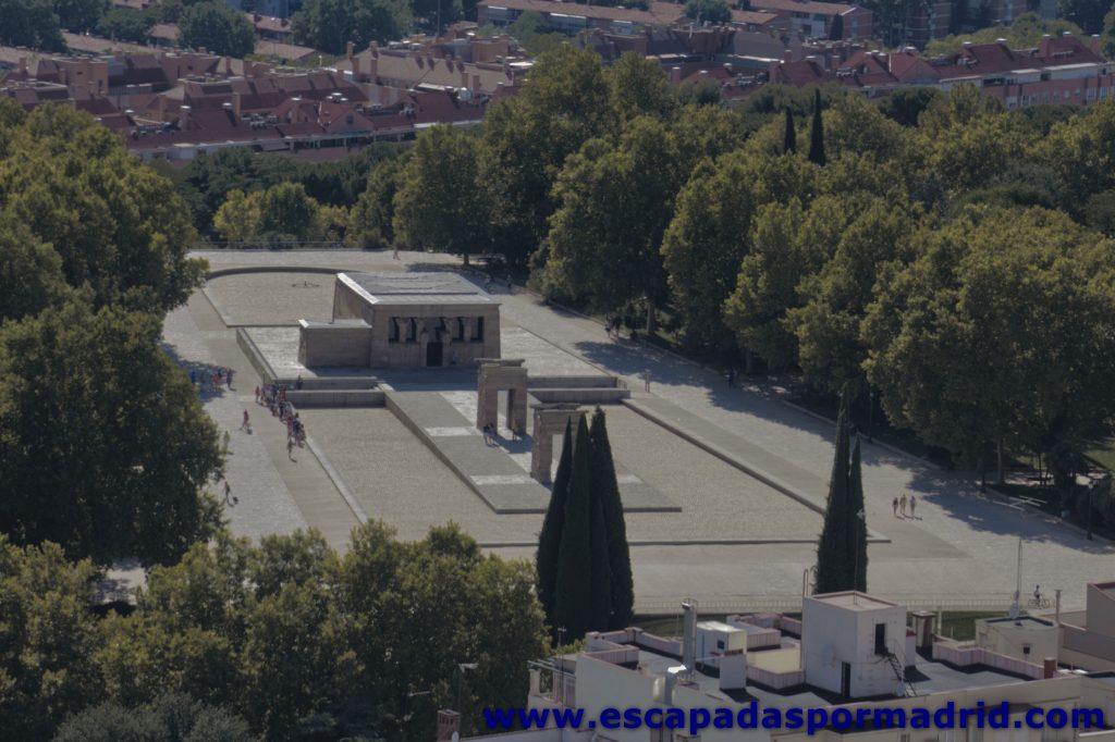 fotografia del Templo de Debod