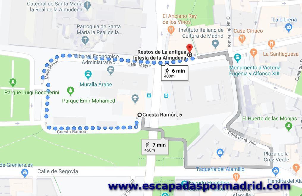 foto de Cómo llegar a los restos de la Mezquita Mayor de Madrid