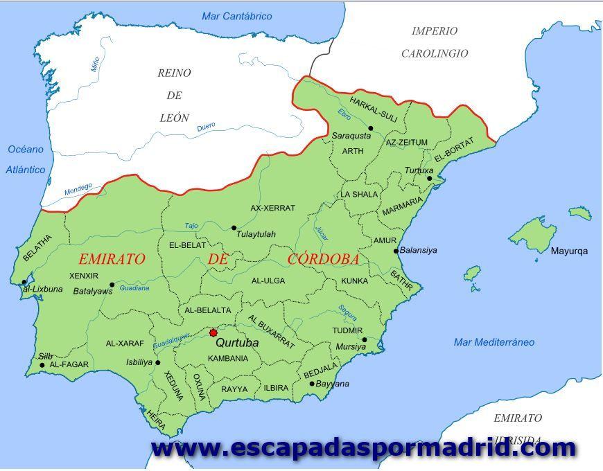 foto del Mapa del Emirato de Córdoba en el año 929