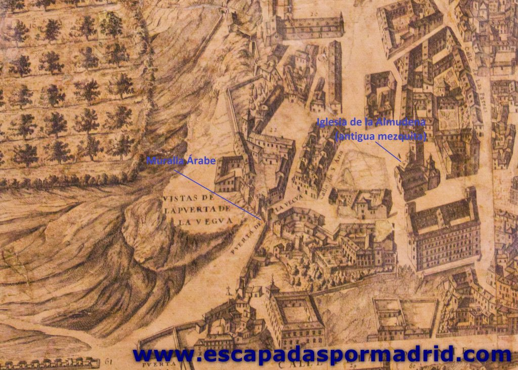 foto de Plano de Madrid en la zona de la Muralla Árabe
