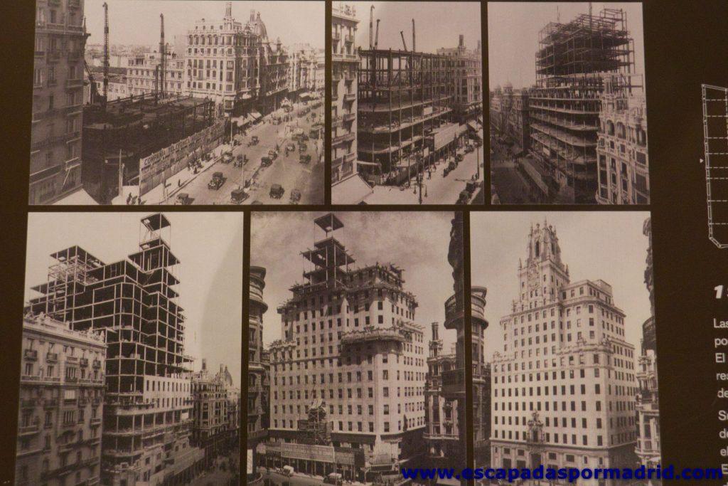 foto de la Construcción del Edificio Telefónica