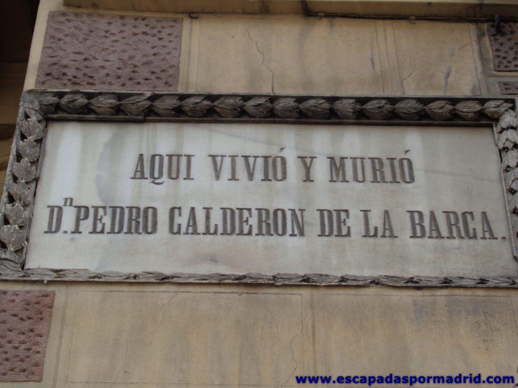 foto de Placa conmemorativa en la Casa de Calder贸n de la Barca