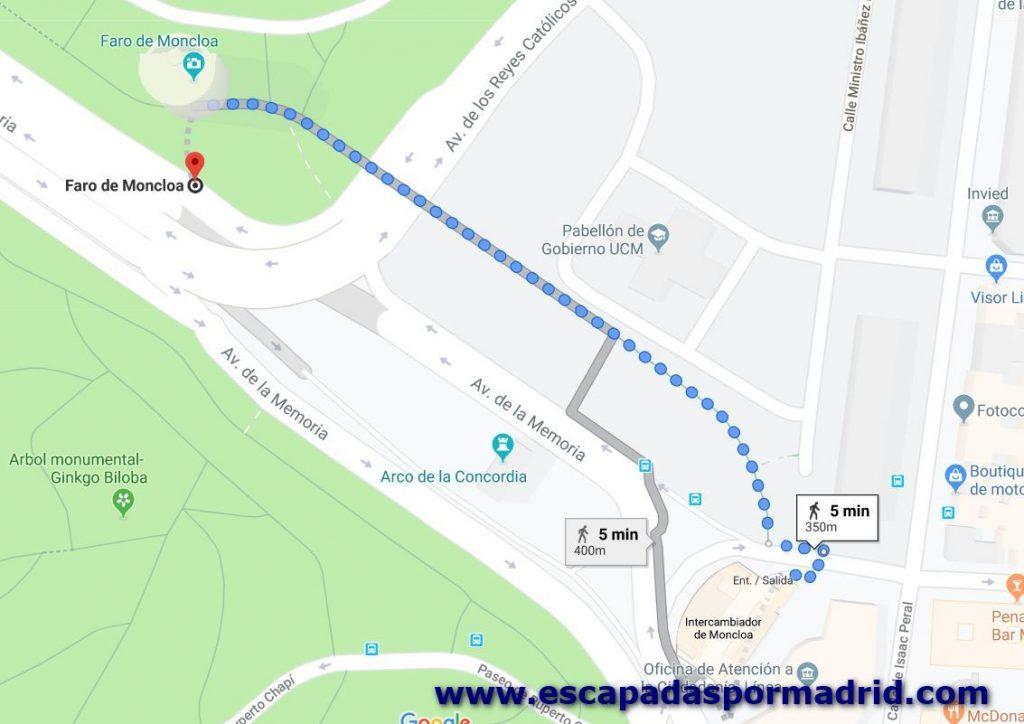 foto de Cómo llegar al Faro de Moncloa