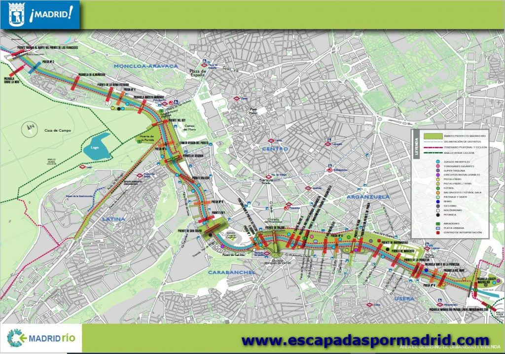foto del Plano de Madrid Río