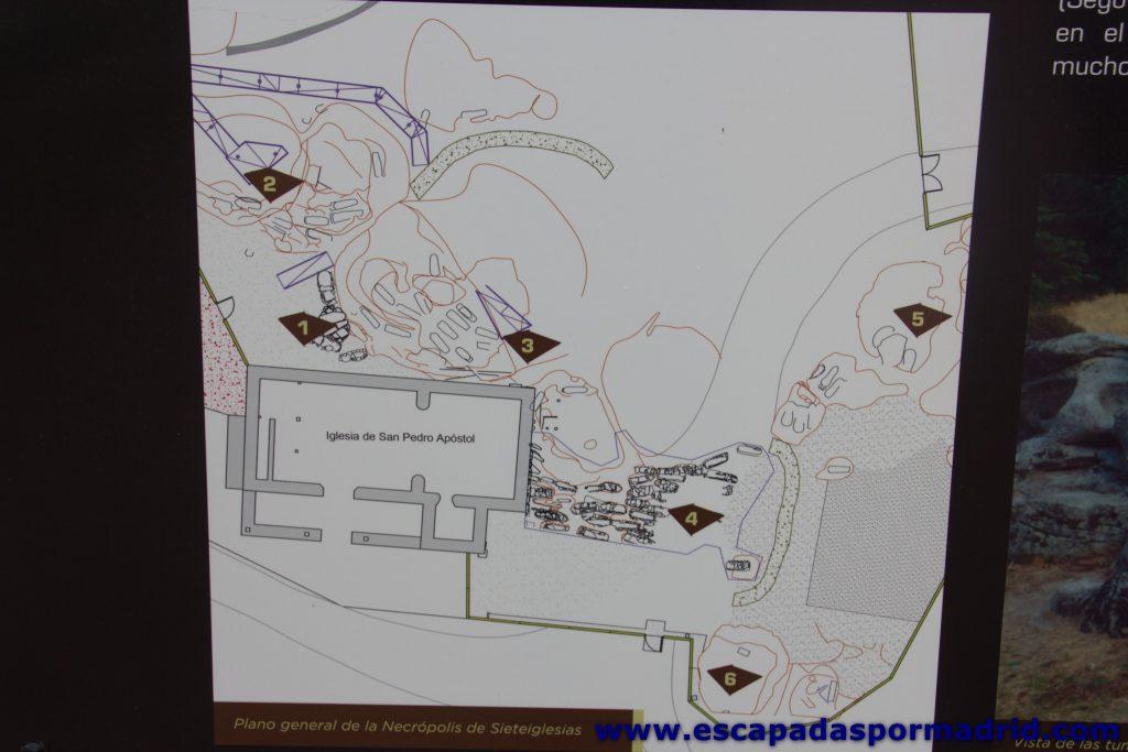 foto de Plano de la Necrópolis de Sieteiglesias