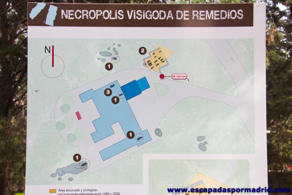 foto del Plano de la Necrópolis Visigoda de Remedios